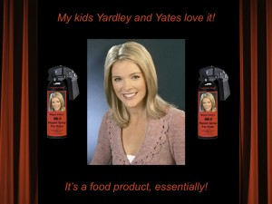 """Megyn Kelly's MK-9 Pepper Spray for Kids!"" video by A. D. Coleman, 11/28/11, screenshot."